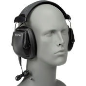 Sync™ 1030110 Stereo Earmuff with Audio Input Jack, Black, 25 dB