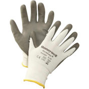 Honeywell WorkEasy® WE300M Cut-Resistant HPPE Fiber Glove, Gray Shell & PU Palm, Medium