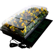 "Jump Start CK64050 Hydroponic Germination Station w/Heat Mat, 11"" x 22"" Tray, 72-Cell Pack, 2"" Dome"