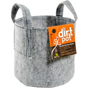 Hydrofarm HGDB20 Hydroponic Dirt Pot Flexible Portable Planter with Handles, 20 Gallons , Grey