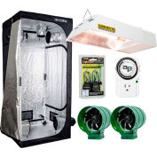 Hydrofarm LHTENT33KS Lighthouse Grow Tent Kit w/Sunburst CMh Grow Light and Ventilation Fans 3' x 3'