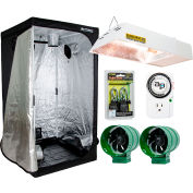 Hydrofarm LHTENT44KS Hydroponic Grow Tent Kit w/Sunburst CMh Grow Light and Ventilation Fans 4' x 4'