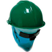 ComfitWear® Hard Hat With Ratchet Nape Strap, Polyethylene, Green - Pkg Qty 20