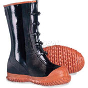 ComfitWear® 5-Buckle Boots, Size 10, Rubber, Black, 1-Pair - Pkg Qty 6