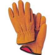 ComfitWear® Lined Split Leather Driver's Gloves, Suede Leather, Natural, Large, 1 Dozen - Pkg Qty 10