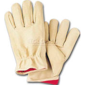 ComfitWear® Full Grain Leather Lined Gloves, Natural, X-Large, 1 Dozen - Pkg Qty 10