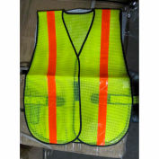 ComfitWear® Safety Vest, Lime, Polyester, One Size - Pkg Qty 12
