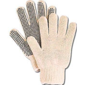 ComfitWear® Dotted Knit Gloves with Plastic Dots, Natural, One Size, 1 Dozen - Pkg Qty 10