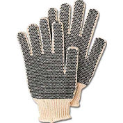 ComfitWear® Dotted Knit Gloves with Plastic Dots On Both Sides, Natural, One Size, 1 Dozen - Pkg Qty 10