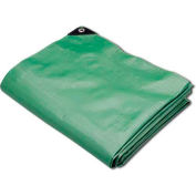 Hygrade Heavy Duty Super Cover Poly Tarp 10 Mil, Green/Black, 12'L X 16'W - MTGB-1216