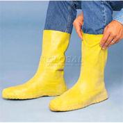ComfitWear® Latex Hazmat Bootie, Large, Yellow - Pkg Qty 50