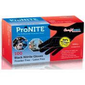 ComfitWear® Powder-Free Nitrile Disposable Gloves, Black, L, 100/Box, 10 Boxes/Carton