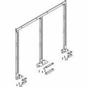 """QS Multi-Task System-I Frame 60""""L 3 Vertical Work Surface Mounted EZE Blue"""