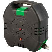 Designcord® 80330 Auto-Rewind Extension Cord Reel, 30'L, 16-3 AWG