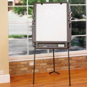 Iceberg Portable Flipchart Easel with Dry Erase Surface - Charcoal