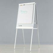 """Iceberg Polarity Dry Erase Flipchart Easel, 38W"""" x 67 To 73H"""" - White"""