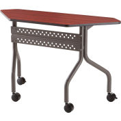 "Iceberg OfficeWorks™ Mobile Training Table - 48"" Trapezoid - Mahogany"