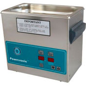 Ultrasonic Table Top Part Cleaning System - Digital Timer/Heat, .75 Gal, 45 kHz, 230V