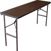 """Interion® Folding Wood Seminar Table, 60""""W x 18""""D, Walnut"""