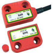 IDEM 114015 MPR Magnetic Non Contact Switch, Cable Left, 10M, 2NC 1NO - Pkg Qty 2
