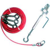 IDEM 140007 Rope Kit-Galvanized, 80M, Galvanized - Pkg Qty 33