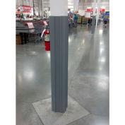 "Ideal Shield® Gray Square Column Wrap, HDPE, 11""L x 11""W x 60""H"