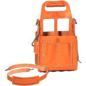 Ideal® Tuff-Tote™ Tool Carrier, Premium Leather Carrier W/Shoulder Strap