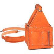 Ideal® Tuff-Tote™ Ultimate Tool Carriers, Premium Leather Carrier W/Shoulder Strap