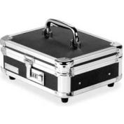 "IdeaStream® Vaultz Cash Box, 10""W x 8-3/4""D x 5""H, Black/Chrome"