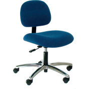 Heavy Duty Fabric Chair with Aluminum Base Blue