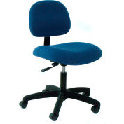 Heavy Duty Fabric Chair with Nylon Base Dark Blue