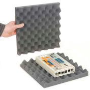"""Charcoal Convoluted Foam Set, 12""""W X 12""""L X 2""""D - Pkg Qty 24"""