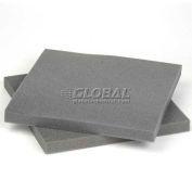 """Reusable Soft Foam Pads, 12""""L x 12""""W x 1"""" Thick, Charcoal - Pkg Qty 48"""