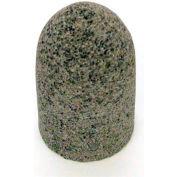 "Grier Abrasives Cone Radius Side, Round Tip, 1-1/2"" x 2-1/2"" - 3/8-24 Shank, 24, Brown - Pkg Qty 20"