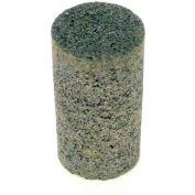 """Grier Abrasives Plug Cylinder, Flat Tip, 1-1/2"""" x 3"""" - 3/8-24 Shank, 16, Brown - Pkg Qty 20"""