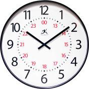 "Infinity Instruments 20"" Wall Clock, Black, 24Hr."