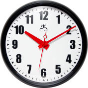 "Infinity Instruments 15"" Round Impact Wall Clock - Black"
