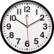 "Infinity Instruments 13"" Wall Clock, Black"