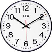 "Infinity Instruments 12"" Round Prosaic Wall Clock - Black"