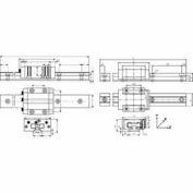 IGUS TS-04-12-1000 1,000mm DryLin-T Mini Hard Anodized Aluminum Rail - Size 12