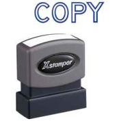 "Xstamper® Pre-Inked Message Stamp, COPY, 1-5/8"" x 1/2"", Blue"