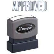"Xstamper® Pre-Inked Message Stamp, APPROVED, 1-5/8"" x 1/2"", Blue"