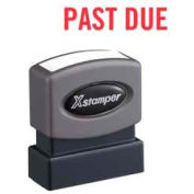 "Xstamper® Pre-Inked Message Stamp, PAST DUE, 1-5/8"" x 1/2"", Red"