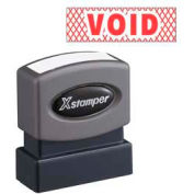 "Xstamper® Pre-Inked Message Stamp, VOID, 1-5/8"" x 1/2"", Red"