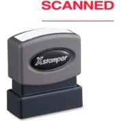 "Xstamper® Pre-Inked Message Stamp, SCANNED, 1-5/8"" x 1/2"", Red"