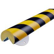 Knuffi® WPK-A+ Corner Wall Protection Kit, 1.64', Black/Yellow, 60-6866