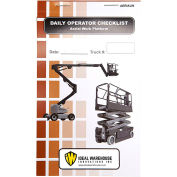Replacement Checklist 70-1079 for Ideal Warehouse Aerial Work Platform Checklist Caddy