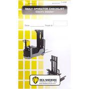 Replacement Checklist 70-1086-CP for Ideal Warehouse Electric Stacker Checklist Caddy - Pack of 5