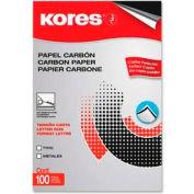 "Kores® Carbon Paper, 8-1/2"" x 11"", Black, 100 Sheets/Pack"