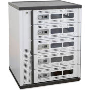 Ergotron® 5-Bay Charging Locker for Laptops, Tablets and Phones, White/Gray